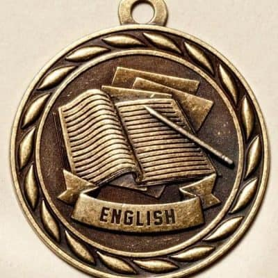 "2"" English Academic Medal"