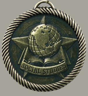 "2"" Social Studies Medal"