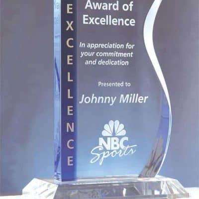Blue Wave Crystal Award
