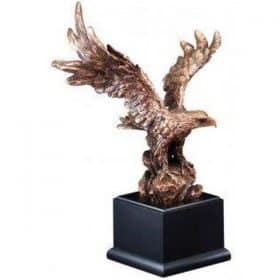 Bronze Resin American Eagle on Black Base