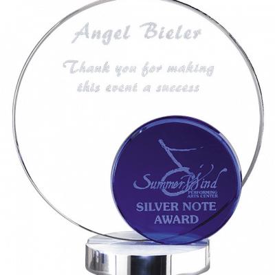 Cool Blue Round Award