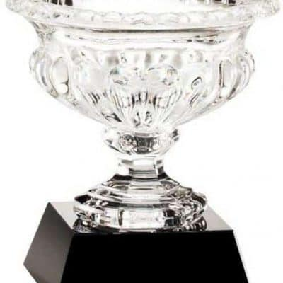 Crystal Vase on Black Crystal Base