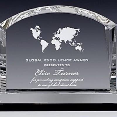 Domed Billboard Crystal Award