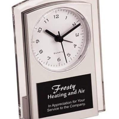 Silver Promotional Clock