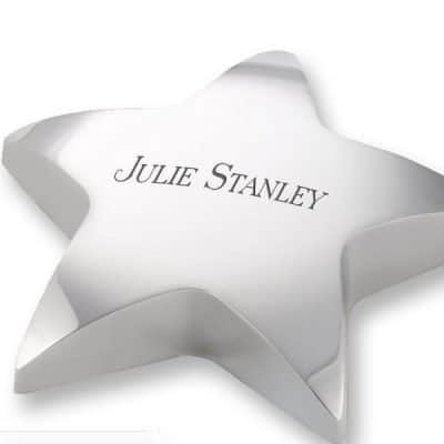 Silver Star Paperweight