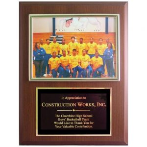 sponsor plaque wording suburban custom awards