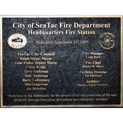 bronze cast plaque