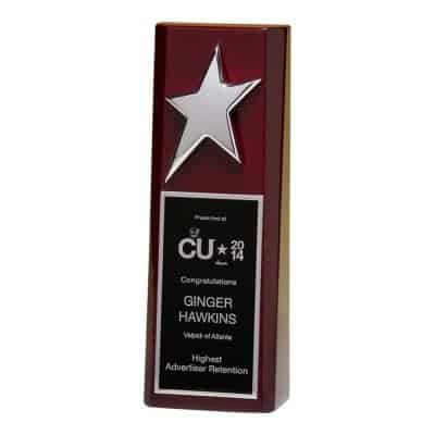 Silver Star on Rosewood Trophy