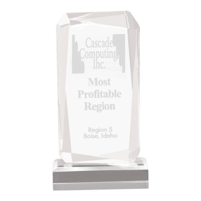 Faceted Rectangle Acrylic Award